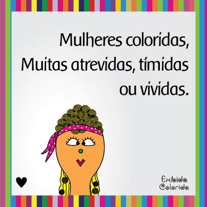 dia da mulher exibida colorida